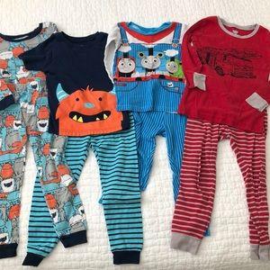 Boys pajamas, 4 sets size 4T